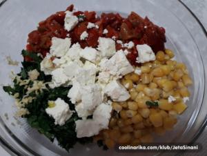 Salata od pečenih paprika i kukuruza