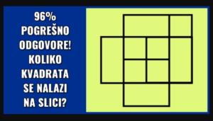 KOLIKO KVADRATA VIDITE NA SLICI: 96% ljudi pogrešno odgovori!