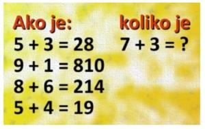MINI MATEMATIKA: Znate li rješenje?